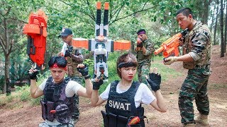 LTT Nerf War : Special police SEAL X Warriors Nerf Guns Fight Attack Criminal Group Rescue Captain