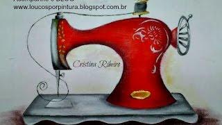 Pintando em tecido Videoaula para iniciantes – Máquina de costura