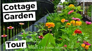 Small Cottage Garden Tour - Summer 2018 - This backyard cottage garden is one a year old!