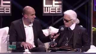 LeWeb 2011 Karl Lagerfeld, Natalie Massenet & Loic Le Meur