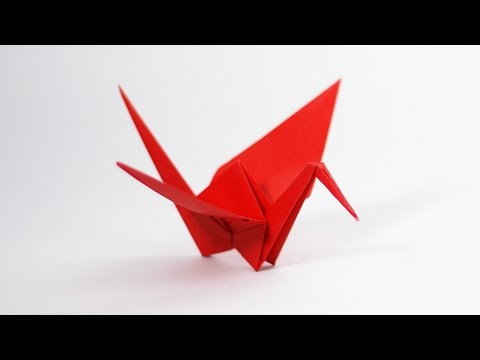 How to make easy origami bird | Origami crane with wing's ... | 360x480
