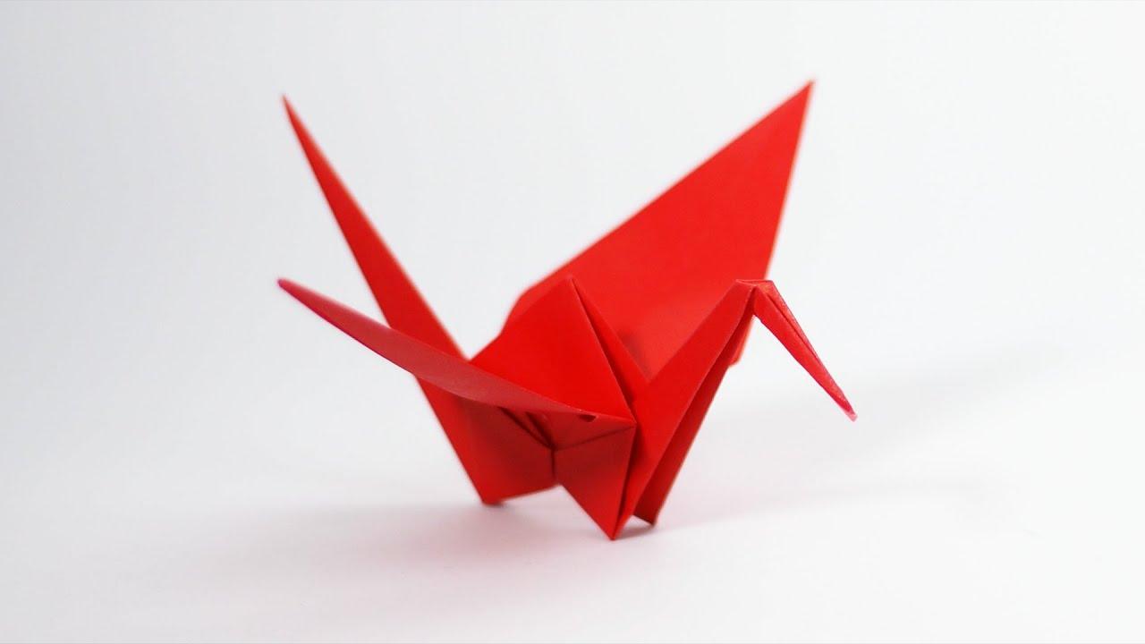 The Best Origami Crane Tutorial - YouTube | 720x1280