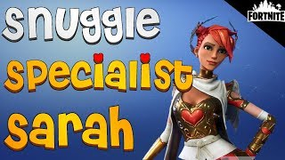 FORTNITE - Snuggle Specialist Sarah Perks and Gameplay (Ninja With Angel Wings)