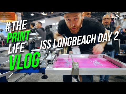 ISS Long Beach Entry level screen printing press Anatol, M&R