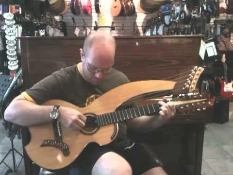 Brad Hoyt 1- Harp guitar- Hoggtowne Music, Gainesville, FL