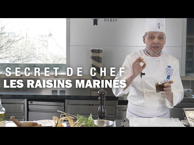 Les RAISINS MARINÉS : Le secret d'Éric Briffard