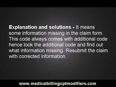 Medicare denial code