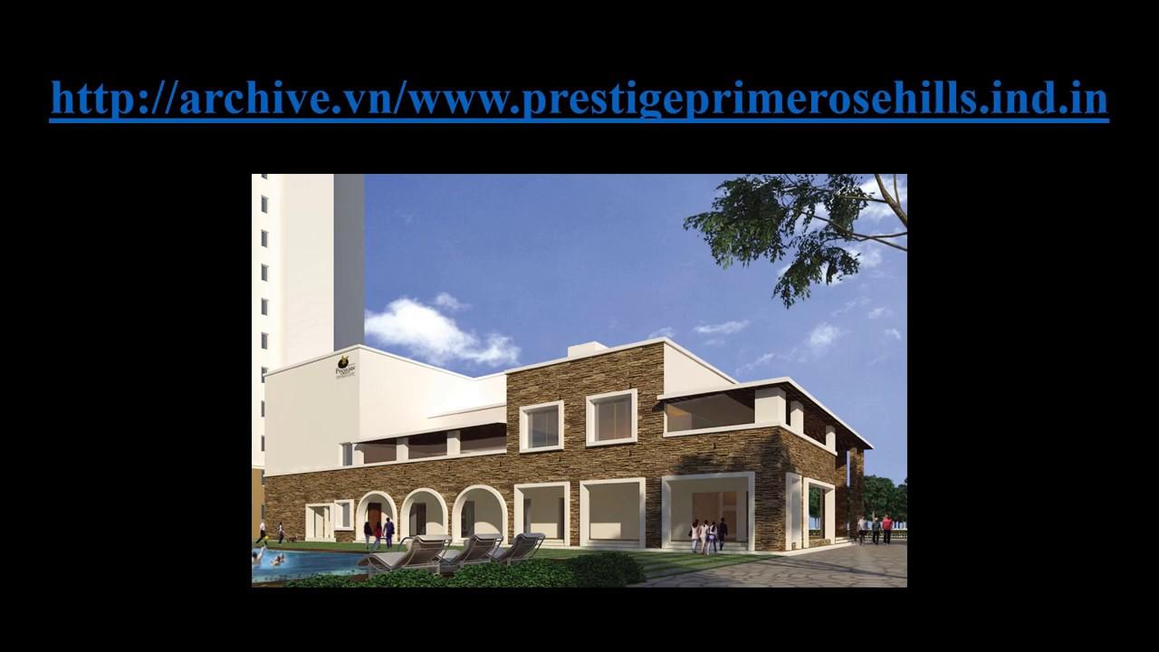 Prestige Primrose Hills Bangalore At https://www.prestigeprimerosehills.ind.in/