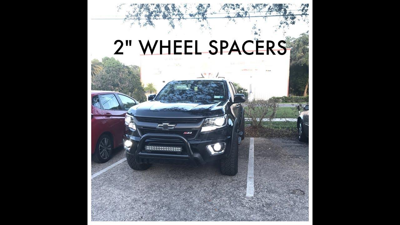 "2"" Wheel Spacers - 2016 Chevy Colorado - YouTube"
