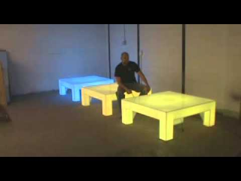 light up led acrylic lounge tables 48 x 48 youtube. Black Bedroom Furniture Sets. Home Design Ideas