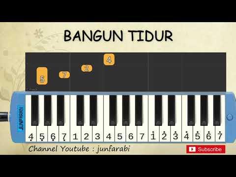 Not Pianika Bangun Tidur - Tutorial Belajar Pianika Lagu Anak - Not Angka Bangun Tidur