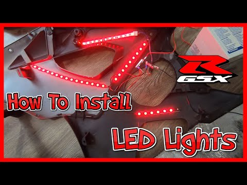 How To Install LED Lights on a Motorcycle – Suzuki GSXR 1000