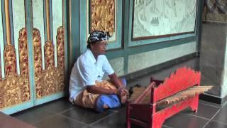 Bamboo gamelan played in Ubud, Bali, Indonesia