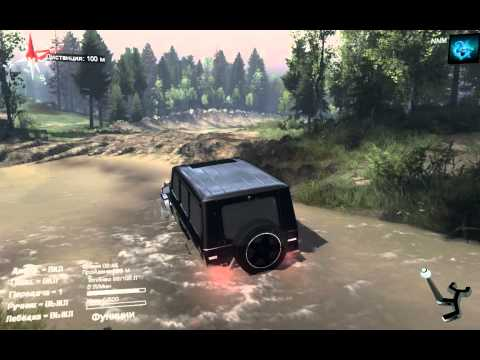 игра Spintires. Mercedes-Benz G65 AMG (Гелик)