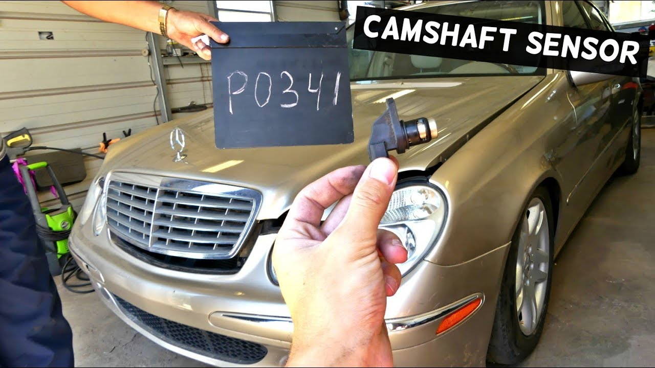 Mercedes W211 Camshaft Position Sensor Po341 Youtube 2000 E320 Headlight Wiring Harness