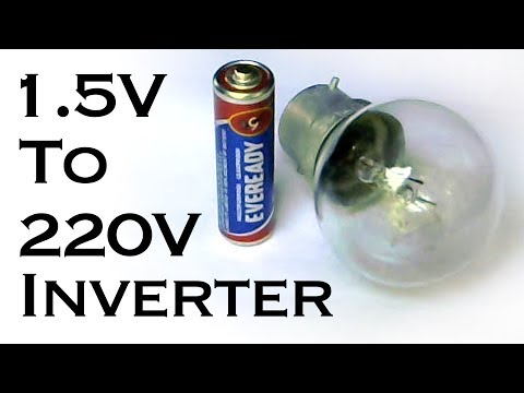 How to Make AAA (1.5V) Battery to 220V AC Inverter