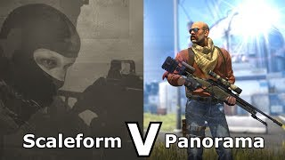 CS:GO's Panorama UI VS Older Versions