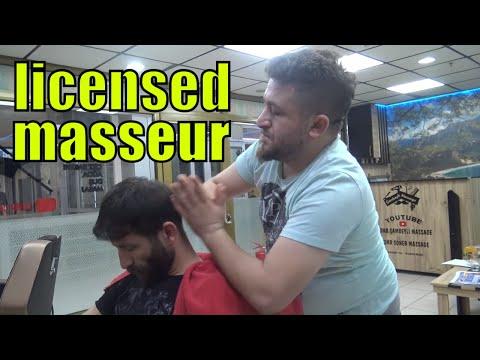 ASMR TURKISH BARBER HARD MASSAGE=foot,head,back,ear,sleep,neck,ax,toksen massage