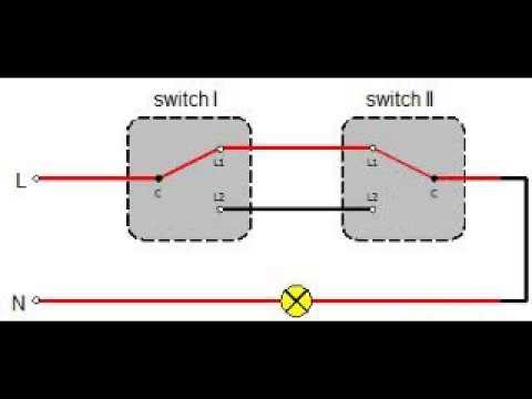 two way switching diagram two way switch youtube  how to wire a 2 way switch diagram #33
