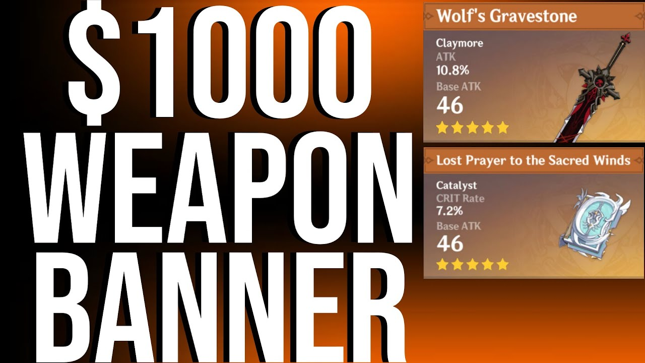 Can I Get Wolf's Gravestone After $1000? | Genshin Impact