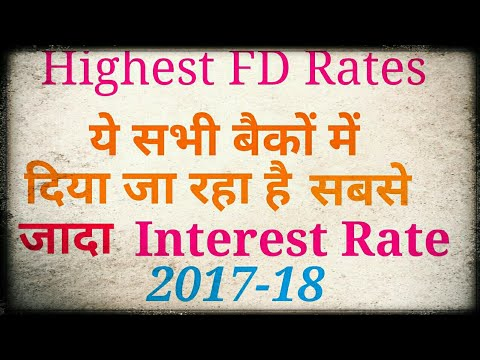 Highest Interest rates by banks (2017-18)- subse jada interest-Hindi