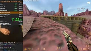 [WR] Half-Life in 24:19 speedrun (with save warping, WON)