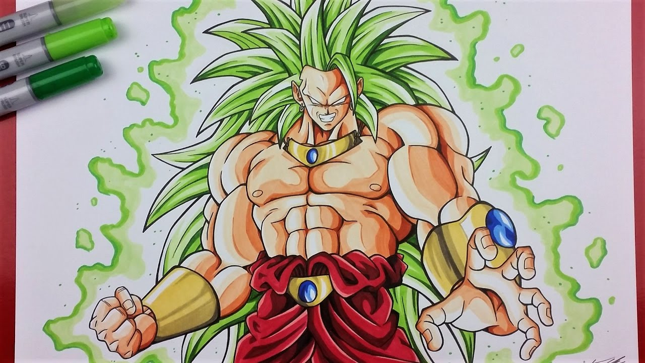 Drawing Tutorial How To Draw Broly Legendary Super Saiyan 3