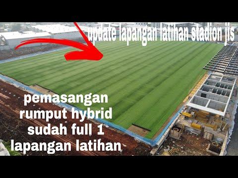 UPDATE PEMASANGAN RUMPUT HYBRID  LAPANGAN LATIHAN JAKARTA INTERNASIONAL STADIUM