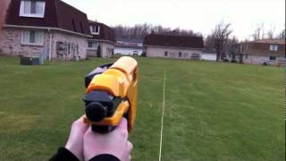 Nerf Dart Tag Speedload 6 - Range Test (Stock)