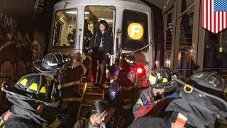 New York 'F' subway train derails, 19 injured as 1000 passengers evacuated