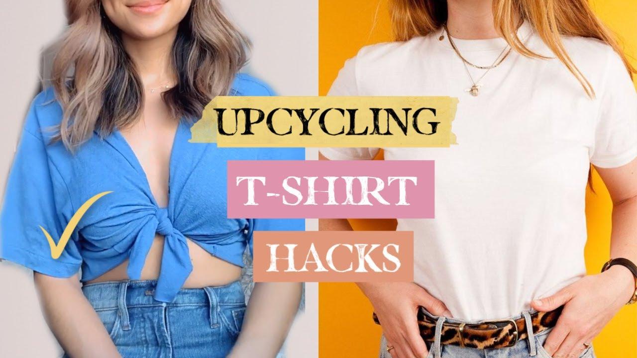 7 Old T Shirt Hacks Every Girl Should Know Testing Tiktok Fashion Hacks Youtube