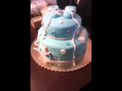 Music Baby Shower Cake