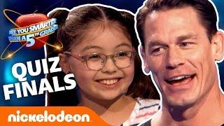 John Cena Hosts The 5th Grader Quiz-Along FINALS 🍎 Nick