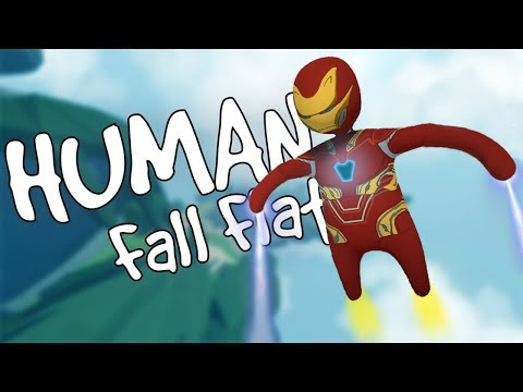 IRON MAN In SKY Map [Human Fall Flat]