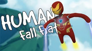 IRON MAN in SKY Map [Human Fall Flat]