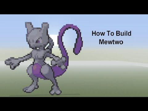 how to build mewtwo in minecraft