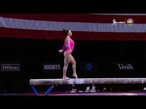 Aly Raisman - Beam - 2016 P&G Gymnastics Championships - Day 1