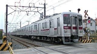 東武10050系11657F&10000系11603F 伊勢崎線加須駅付近の踏切にて