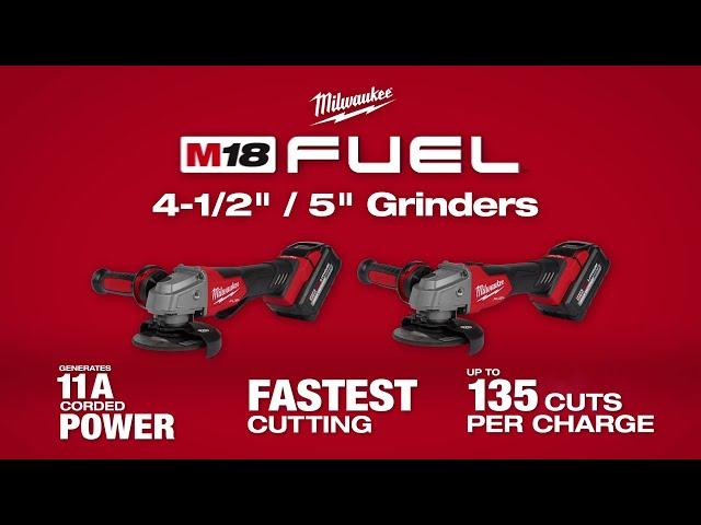 """Milwaukee® M18 FUEL™ 4.5"""" / 5"""" Grinders"""