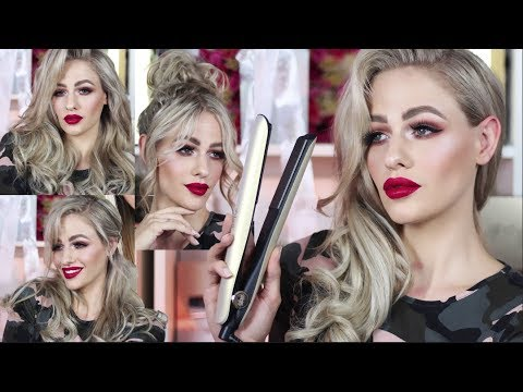 New Ghd Gold Hair Tutorial Glam Curls And 3 Hairstyles Saharan Gold Collection Youtube
