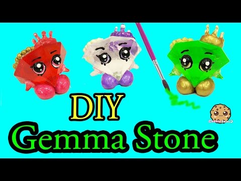 DIY Green GEMMA STONE Custom Shopkins Do It Yourself Craft - Cookieswirlc Video