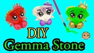 DIY Green GEMMA STONE Custom Shopkins Do It Yourself Craft - Cookieswirlc Video