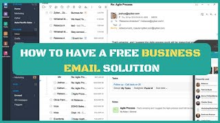 How To Setup A Free Business Email Solution With Zoho Mail