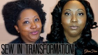 How to do a Sew in weave!