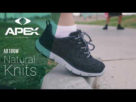 Orthopedic Running Shoes - Natural Wool Knit - Dark