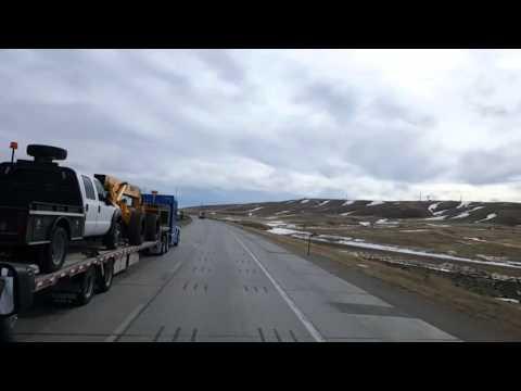 BigRigTravels LIVE VIDEOS - Rawlins to Woodedge, Wyoming- Thu Feb 18 10:24:05 MST 2016