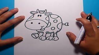 Como dibujar una vaca paso a paso | How to draw a cow