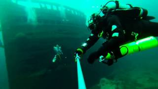 Shipwreck diving in the Straits of Mackinac