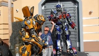 V#129 HSKY Meeting Both Bumblebee & Optimus Prime Transformer Universal Studios Hollywood 2014 HD