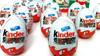 ★6 Easter Eggs Holiday Edition 2013 Unwrapping Kinder Surprise Egg Spongebob